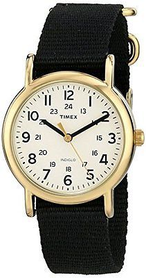 Other Watches 166739: Timex Unisex T2p4769j Weekender Gold-Tone Watch With Black Nylon Band -> BUY IT NOW ONLY: $31.26 on eBay!