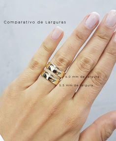 756d2c1e9c5 Alianças João Pessoa ♥ Casamento e Noivado em Ouro 18K. Largura das  Alianças Anel De