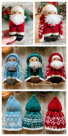 Knitting Dolls Free Patterns, Knitted Dolls Free, Christmas Knitting Patterns, Loom Knitting, Free Knitting, Baby Knitting, Knitting Machine, Crochet Hot Pads, Knitting For Charity