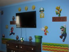 Super Mario Bedroom Makeover by designedbylamb