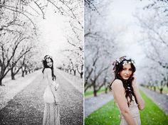 Erica Houck Photography session portrait senior shoot photoshoot flowers white flower crown bridal bride vintage pedals lace