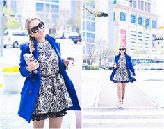 Tideshe Dress, Chanel Glasses, Sheinside Coat, Dsstyles Iphone Case
