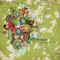 Digital Scrapbook Kit - Happy Camper | Kristin Aagard