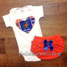 Florida Gators Girls Outfit by BebeSucreOnline on Etsy, $30.00