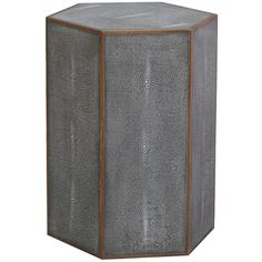 Thorne Regency Charcoal Faux Shagreen Hex End Table ($394) ❤ liked on Polyvore featuring home, furniture, tables, accent tables, regency furniture, regency period furniture, hexagon side table, faux shagreen side table and charcoal furniture