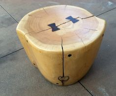 Dan Pollock Stool, California Studio, Reclaimed Wood