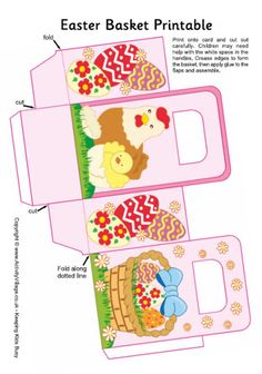 Easter basket printable 2