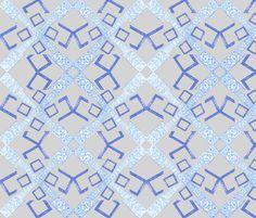 Suga Lane Ice Blue Bling Cherubs fabric by suga_lane on Spoonflower - custom fabric