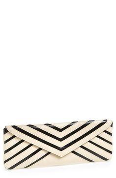 striped envelope clutch