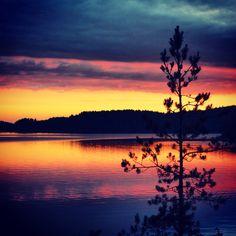 Sunset @ Saimaa, Finland
