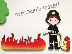 Drewniane dekoracje dla miłośnika straży pożarnej