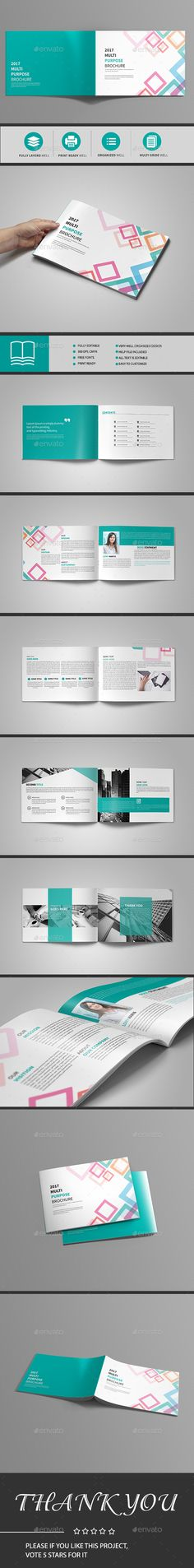Abstract Landscape Brochure 12 Page  — InDesign Template • Only available here ➝…
