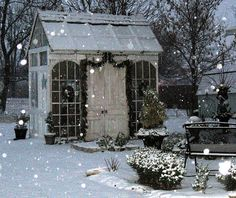Christmas Garden Shed*****Follow our unique garden themed boards at www.pinterest.com/earthwormtec*****Follow us on www.facebook.com/earthwormtec for great organic gardening tips