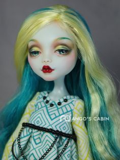 "Monster+High+Repaint+Custom+OOAK++""Lydia""+by+Mango's+Cabin+4-Adult+Mattel++#Mattel"