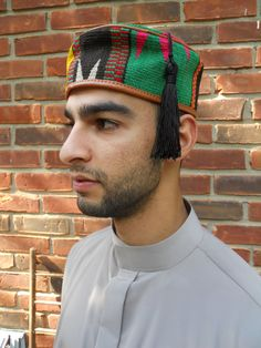 Vintage African Kufi Hat Fez Tassel Ethnic Hat by SlyfieldandSime, $38.00