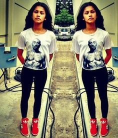 Zendaya has so much style!!...and I love her facinastion with tupac im a B.I.G tupac Fan <<(get it) lol..Stylin