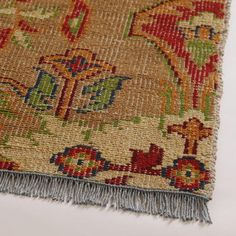 Ophelia Floral Hand-Knotted Wool Area Rug | World Market