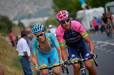 Andriy Grivko (AST) and Ruben Plaza. Stage 20. Modane Valfréjus to Alpe d'Huez.