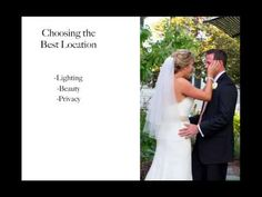 How to Photograph a Wedding (Part 2) First Look Wedding Photos - YouTube