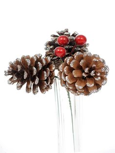 Pinecone and berry pick from Country Baskets