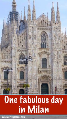 Travelling to Italy? Here's a perfect itinerary for spending one day in Milan, one of Italy's top cities to visit.