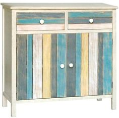 Ocean Seaside Color Cabinet