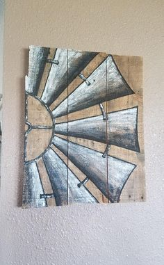 Rustic Handpainted Windmill canvas art Items similar to Rustic Handpainted Windmill farmhouse style on Etsy Rustic Painting, Pallet Painting, Pallet Art, Diy Painting, Painting On Wood, Diy Mother's Day Crafts, Kids Crafts, Kids Diy, Diy Canvas