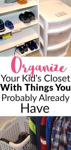 Organized Boys Bedroom Closet: Decluttering made easy in a shared closet Here is the best way to organize a shared boys closet. This post is packed full of space-saving ideas for how to easily organize a boys bedroom closet. Boys Closet, Shared Closet, Closet Bedroom, Bedroom Boys, Bedroom Ideas, Closet Small, Bathroom Closet, Bedroom Designs, Bedrooms
