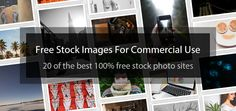 Finding free stock images for commercial use to use on your website or for your next giveaway can be a pain, that's why we've compiled this handy list.