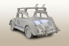 VW Beetle herbie bed by Fun Furniture Collection with 53 bedding by Classic Reflections. www.funfurniturecollection.co.uk