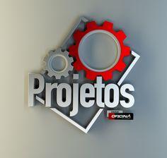 Logo / 3D - Software 3D, Photoshop, renderizado com Vray