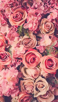 Pink Roses ★ Download more floral Spring iPhone Wallpapers at @prettywallpaper