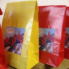 Spiderman party bags....could make it with any theme