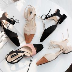 52460860e016 Ouqinvshen čtvercový toe krajky-up Dámské sandály ploché černé růžové módní  křížové svázané kožené letní