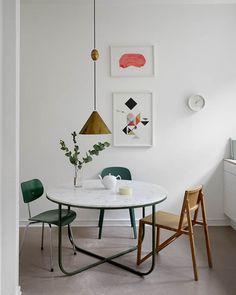 Tanja Vibe kitchen B Dining Nook, Dining Room Design, Living Room Inspiration, Interior Inspiration, Deco Furniture, Furniture Design, Decor Interior Design, Interior Decorating, Rich Home