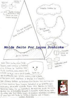 Moldes de papa noel forma pirámide