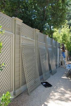 43 Ideas Privacy Screen Diy Outdoor Trellis For 2019 Backyard Fences, Backyard Landscaping, Diy Fence, Fence Ideas, Fence Design, Garden Design, Garden Screening, Screening Ideas, Bamboo Screening