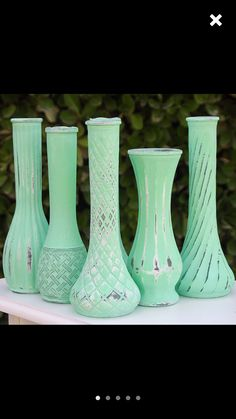 Chalk painted vases