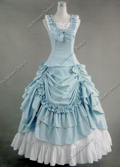 ~ Cinderella~ Pale blue tweaked rococo ball gown. I would wear this with white gloves, pearls, and a simple updo.