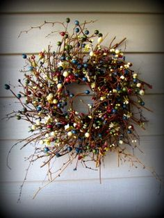 """18"""" Pip Berry Wreath - Primitive Home Decor and More....."""