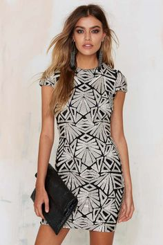 Dress the Population Taylor City Lights Sequin Dress