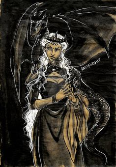Inktober - Day 12 - Dragon by mamaOOD on DeviantArt Dany's Dragons, Game Of Thrones Dragons, Mother Of Dragons, Daenerys Targaryen Art, Inktober, Princess Zelda, Fan Art, Deviantart, Artwork