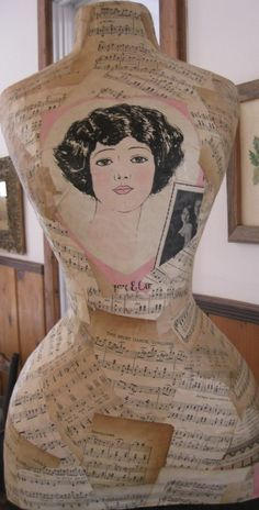 Baby face decoupaged decor dress form!#Repin By:Pinterest++ for iPad#