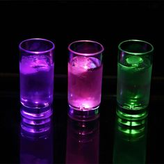 LED Shot Glass -Pack Of 2    Get a shot glass with as much punch as the drink that's in it with our Flashing Lighted Shot Glass!