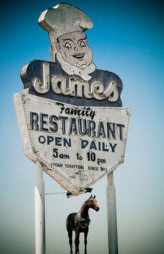 James Family Restaurant Los Angeles CA via flickr