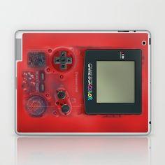 Classic retro transparent Dark red game watch Laptop & iPad Skin @pointsalestore #society6 #laptop #skin #case #Photography #Digitalmanipulation #Vintage #Classic #Retro #Gameboy #Gameguy #Console #8bit #Pixelate #Gameboycolor #Videogames #zelda #Classic #Transparent