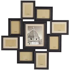 Pier One Linen Mat Collage Frame - Black ($80) ❤ liked on Polyvore