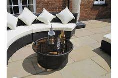 Amber Ultimate Curved Rattan Garden Furniture Sofa Set