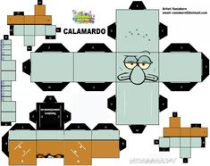cubeecraft calamardo cubecraft Squidward