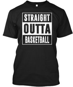 Straight Basketball! Black T-Shirt Front